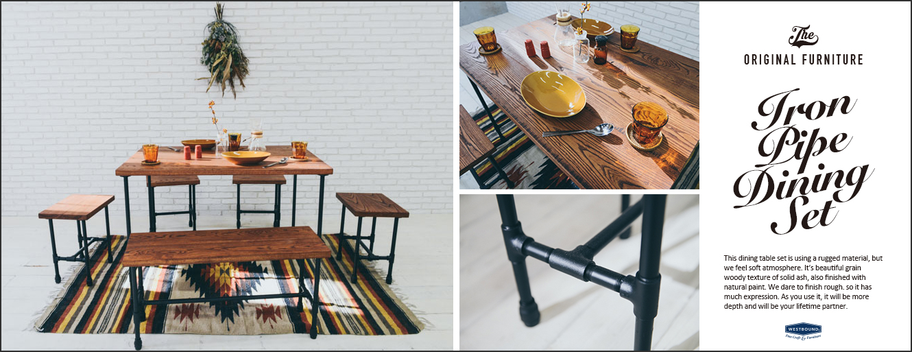 Iron Pipe table Set