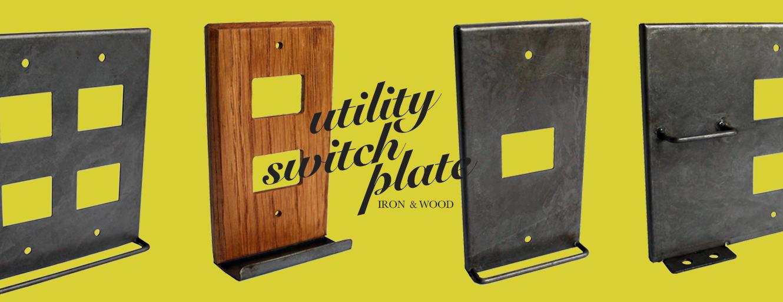 Utility switch plate